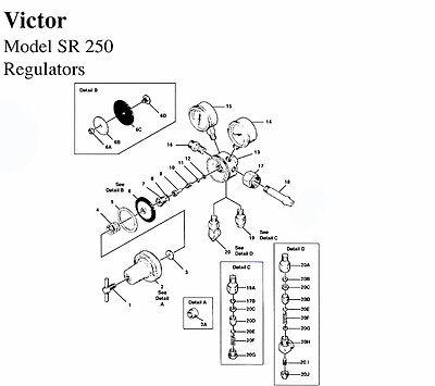 Rebuild Kit With Diaphragm - Victor Sr Cf 253 Co2 Regulator Reg Parts Repair