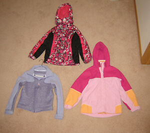 Girls Winter and Spring Jackets, Hoodies - sz 7, 8, 10, 12, 14
