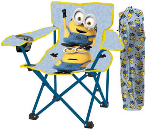 Minions Kids Camp Chair with Carry Bag