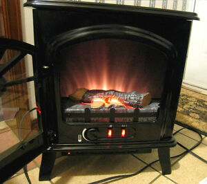 BrandNew Portable Sylvania 1500W Electric Fireplace Stove Heater