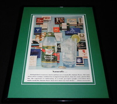 (1958 Canada Dry Quinine Water Framed 11x14 ORIGINAL Vintage Advertisement )
