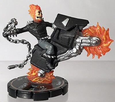"Heroclix Marvel  Ghost Rider Daniel Ketch 2"" Mini Figure 220 Silver 2004 Wizkids"
