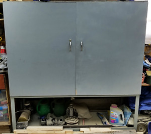 """6' Heavy Duty Garage Rolling Shelf Cabinet [Welded 1/4"""" Steel]"""