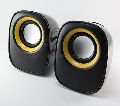 USB Stereo Speaker Multimedia For Laptop Desktop Computer MP3 Cell Player BK