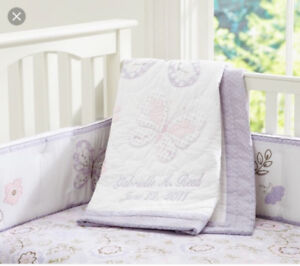 Gabrielle Crib Bumper and Fitted Sheet Pottery Barn Kids