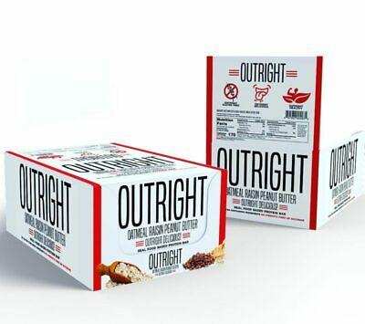 MTS Nutrition OUTRIGHT PROTEIN BAR, Box of 12 Bars, OATMEAL RAISIN PEANUT BUTTER - Oatmeal Raisin Peanut Butter