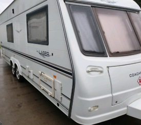 Coachman laser 590/4. Twin axle,motor mover,awning