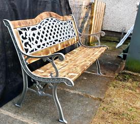 Cast iron garden bench. FULLY REFURBISHED!!