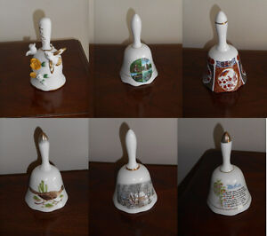 Six Ceramic Bells