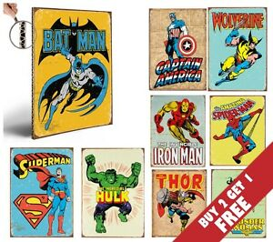 MARVEL-SUPER-HERO-AVENGERS-THICK-POSTERS-Vintage-Comic-30x21CM-BUY2-GET-1-FREE