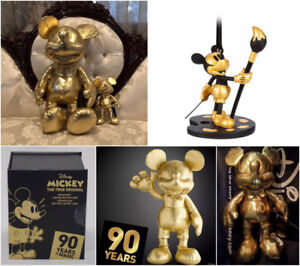 MICKEY MOUSE 90TH ANNIV GOLD COLLECTION PLUSH SET with ORNAMENT