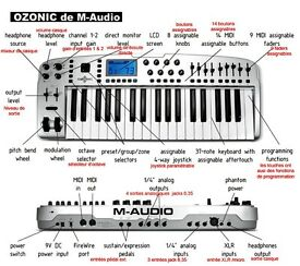 M-audio Ozonic midi keyboard audio interface firewire
