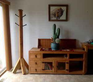 """Santa Fe 63"""" Solid Pine TV Stand."""