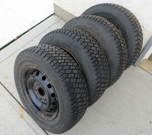 195/70/14 Winter tires on steel rims (set of 4)