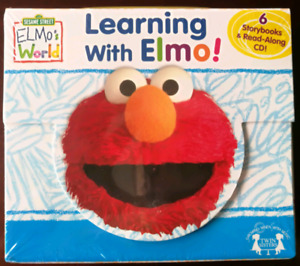 BRAND NEW - SEALED: Learning with Elmo Books & CD