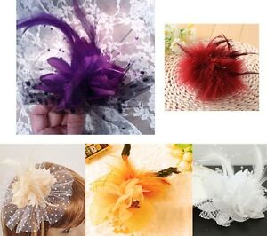 Flower, Feather & Tulle Fascinators, Hats, Corsages -New