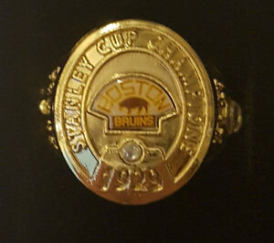 Boston Bruins NHL Stanley Cup Ring.