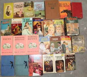 Old Books Harlequin Romance Sci-Fi Anne Green Gables plus more