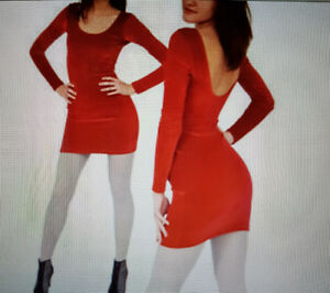 Red velvet dress American Apparel