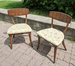 Chair Antique Old Vintage 2 Danish Style Chairs MCM Nice!