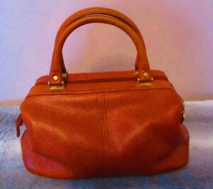 VINTAGE LIZ CLAIBORNE Pebbled Leather Handbag Genuine Leather