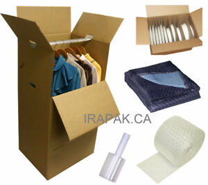 Wardrobe Boxes and Moving Supplies at Manufacturers price
