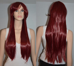 BRAND NEW: 80cm Long Straight Red Wig (508-0795)