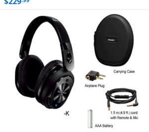 Panasonic RP-HC800 Noise Canceling Headphones