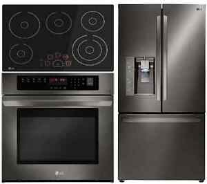lg black stainless steel kitchen package on special sale