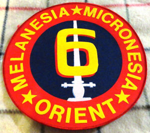 US Marines 6th Marine Division Large Crest WW2 Campaigns