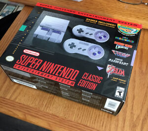 SNES CLASSIC Authentic Nintendo Entertainment System-MINT IN BOX
