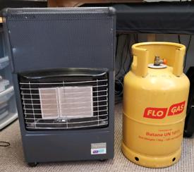 Flogas Superser F150 butane gas heater plus part full 13kg cylinder