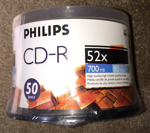 BRAND NEW Philips CD-R Blank Media (50 Discs)