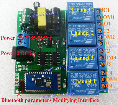 Ac110v 220v 5v Bluetooth Relay Phone Android Mobile Remote Control Switch Module