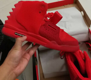 Red NIKE Yeezy 2s