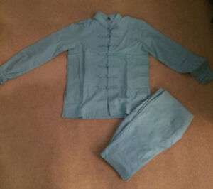 Brand New Tai Chi Women Clothing Cotton and Linen Light Blue