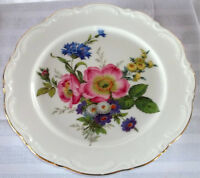 REDUCED IN PRICE--MOVING-Flowered Plate from 1950 Bavaria by JWK