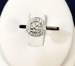 18K Gold Halo Diamond Engagement Ring /Valued at $3,500 Stunning
