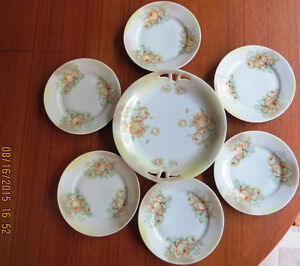 Old German dessert set