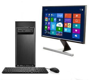 Lenovo computer (screen desktop mouse keyboard speakers)