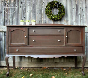 Beautiful driftwood milk painted sideboard