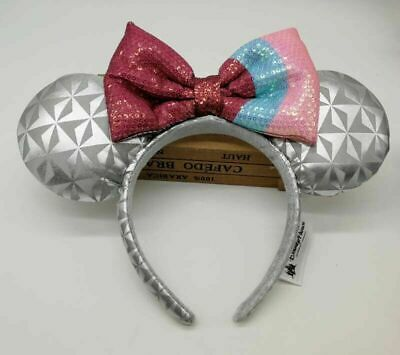 Disney Parks Minnie Mouse Headband Ears Epcot Bubble Gum Spaceship Costume Bow](Gum Costume)
