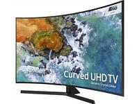 Samsung 55 inch Curved Smart 4K UHD LED TV, HDR, Quad Core, WiFi, Netflix, Youtube with Voice Remote