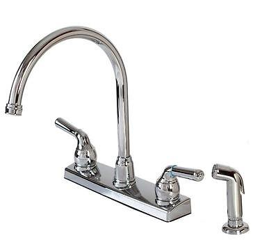 Hardware House 12-2009 2-handle HI-Rise Kitchen Faucet with Spray Chrome (2009 Kitchen)