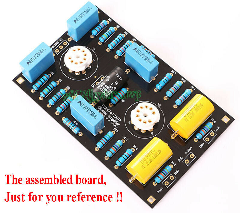 1pcs 12ax7 12au7 Tube Buffer Audio Preamplifier Preamp Amp