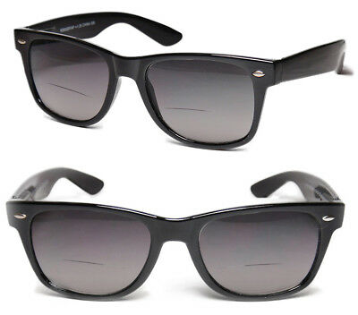 Bifocal Square Frame Full Lenses Magnified Tinted Reading Sunglasses +2.25