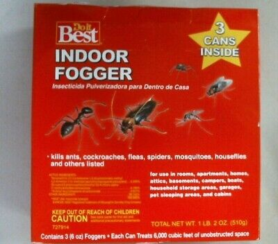 Doit Best 727914 Indoor Fogger, 3 Cans In Package, Ants Fleas Spiders Flies FS