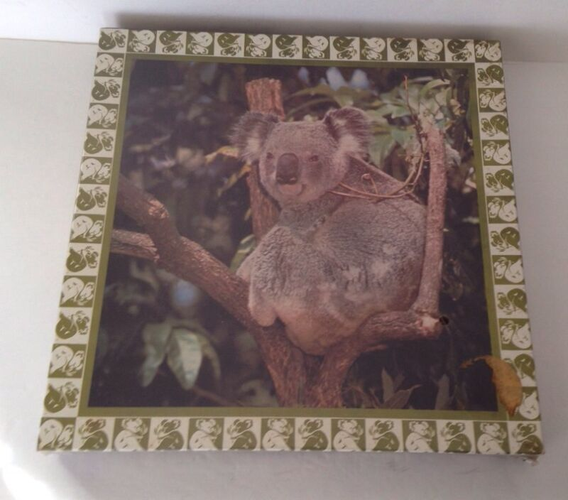 Vintage 1977 KOALA BEAR jigsaw puzzle by Eaton SEALED 500+ PC 20-1/4 X20-1/4