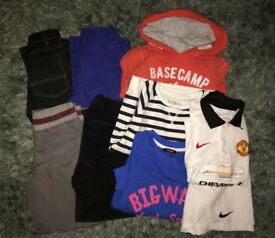 Boys Clothing Bundle, Age 5-6. T-Shirts, Jumpers, Trousers, Man-United Strip