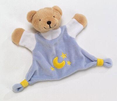 au Schmusetuch Schnuffeltuch Babytuch Kuschelbär Stoff NEU (Teddy Blau)